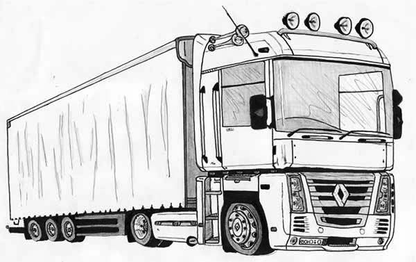 Semi Truck Coloring Page Printables
