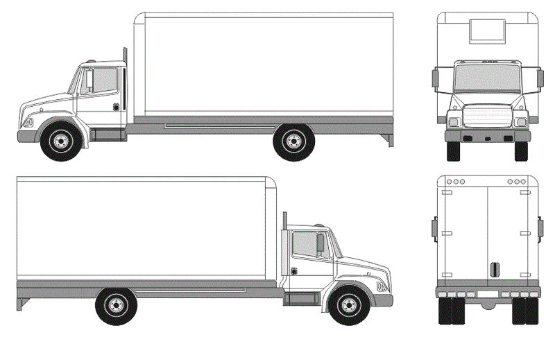 Semi Truck Length Coloring Picture