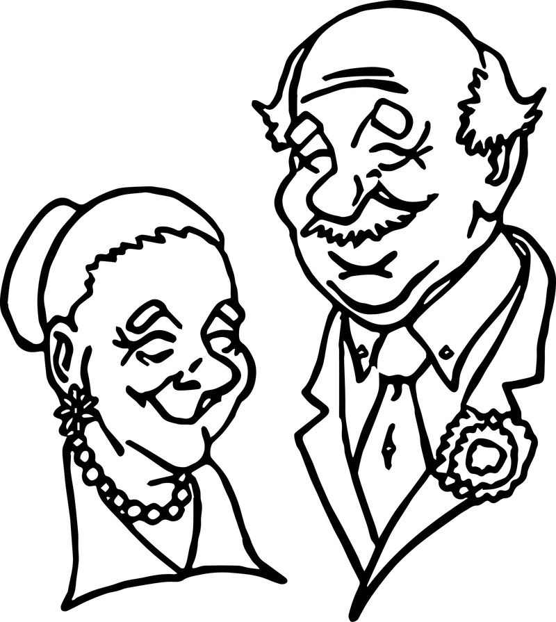 Senior Adult Day Adult Coloring Page