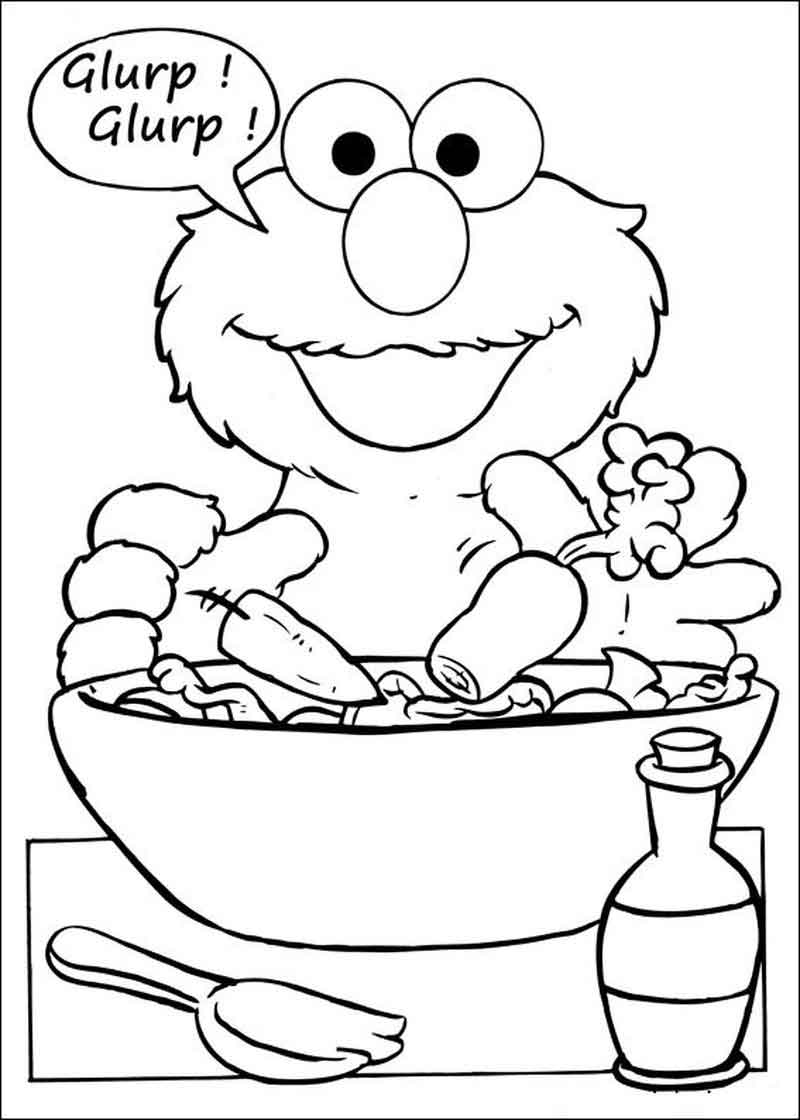 Sesame Street Coloring Pages Photos