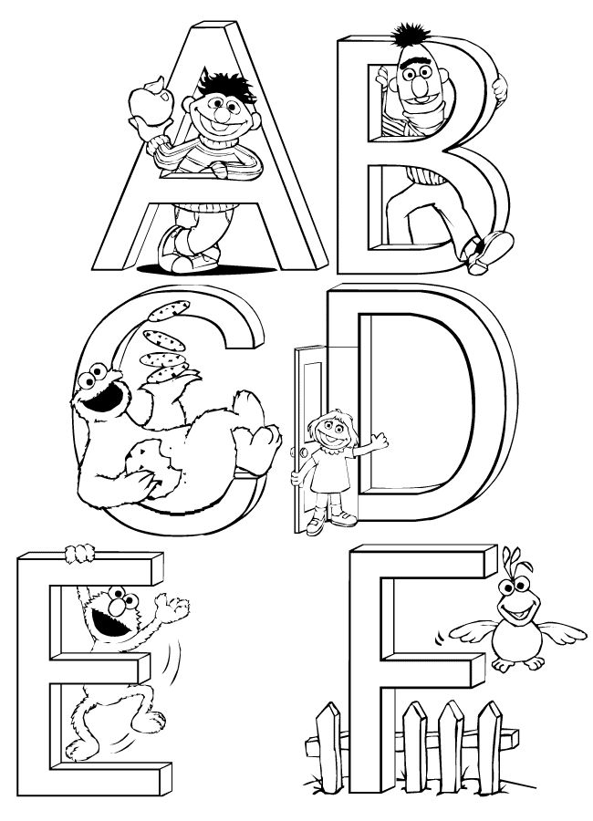 Sesame Street Abcs Coloring Pages