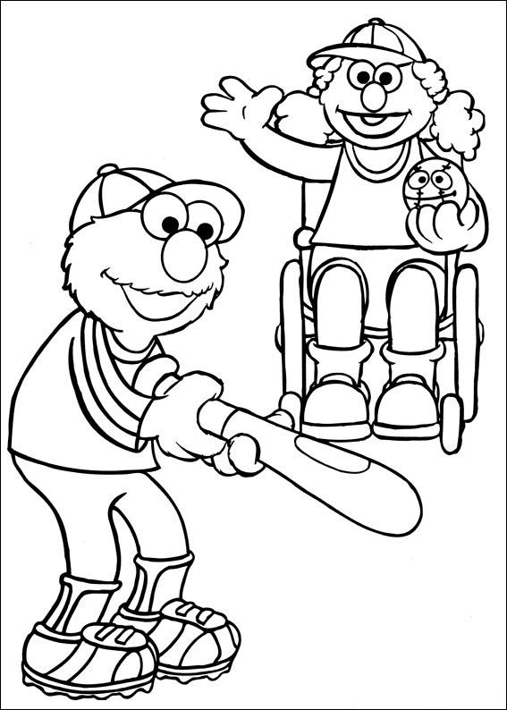 Sesame Street Coloring Pages Images 001