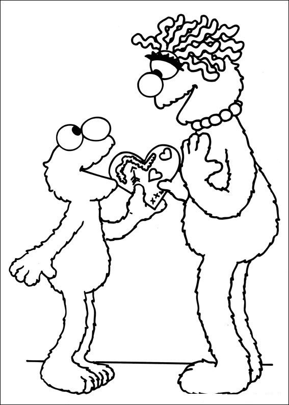 Sesame Street Free Coloring Pages 001