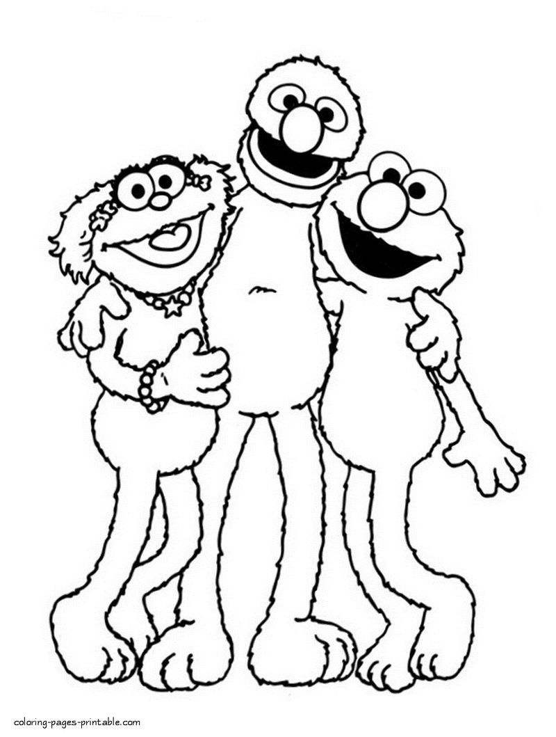 Sesame Street Monster Friends Coloring Pages
