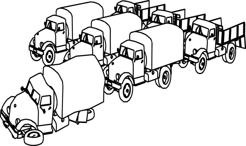 Seven Old Truck Coloring Page