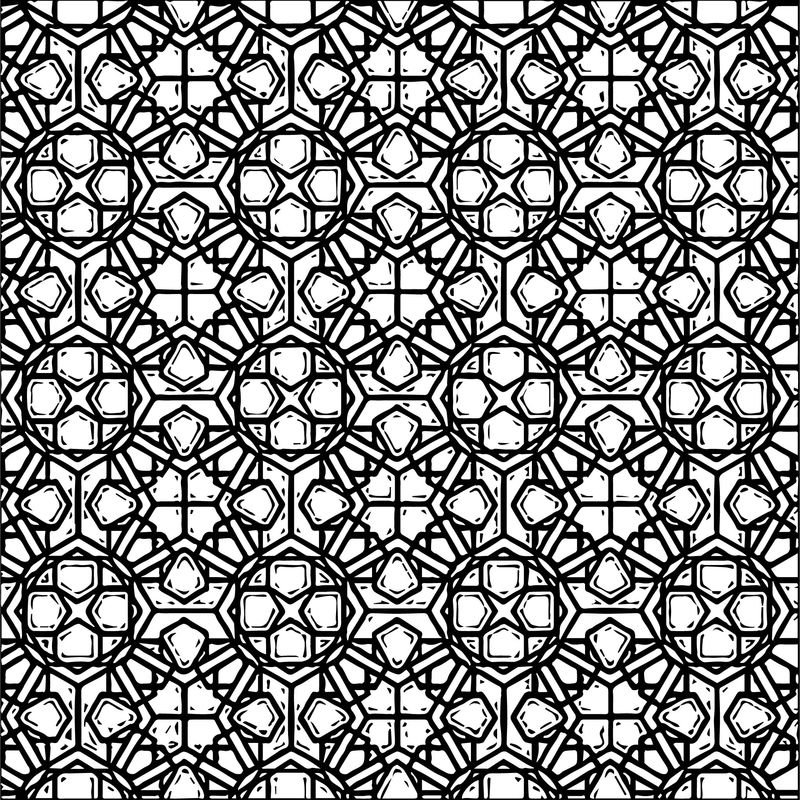 Shape Style Stained Glass Coloring Page