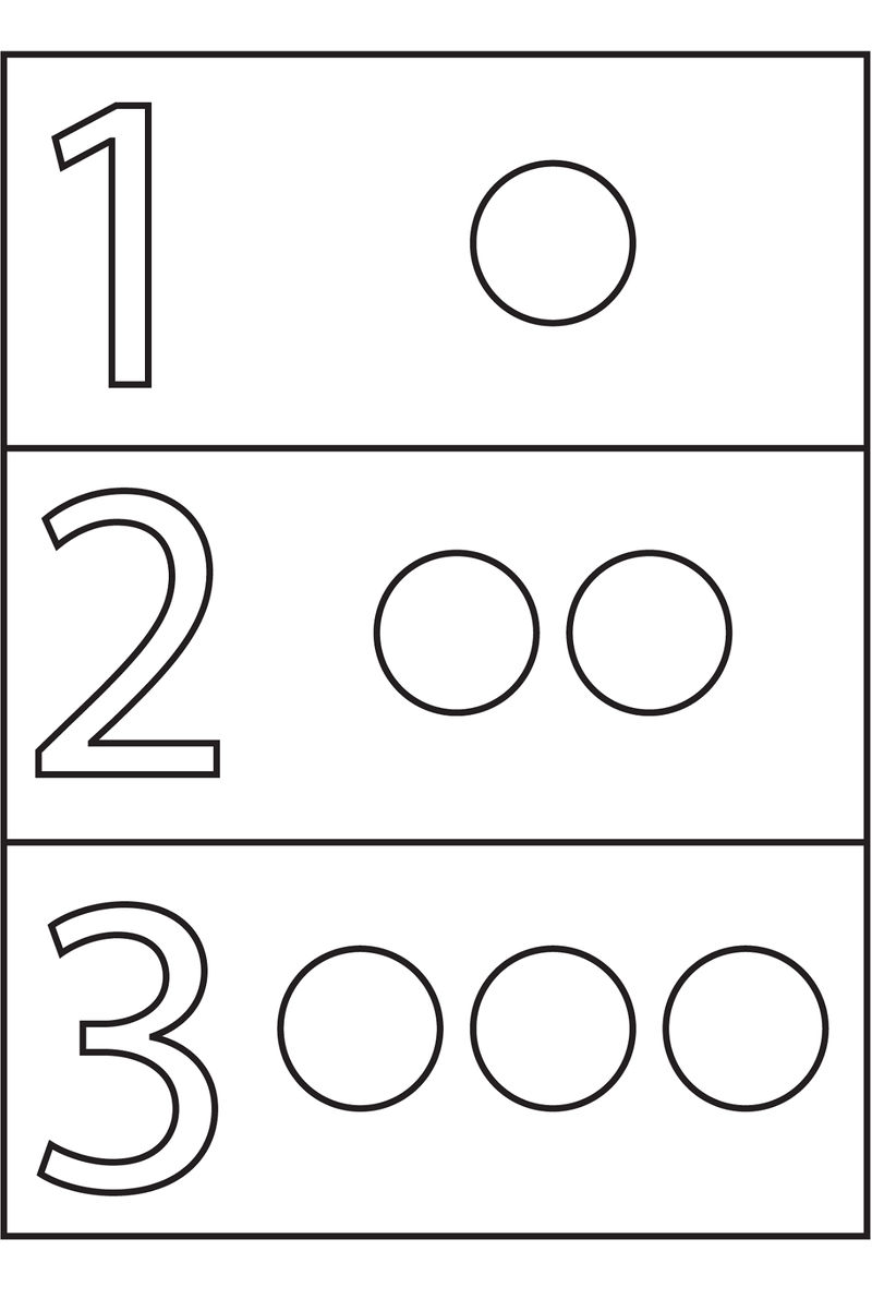 Shapes And Numbers Circle