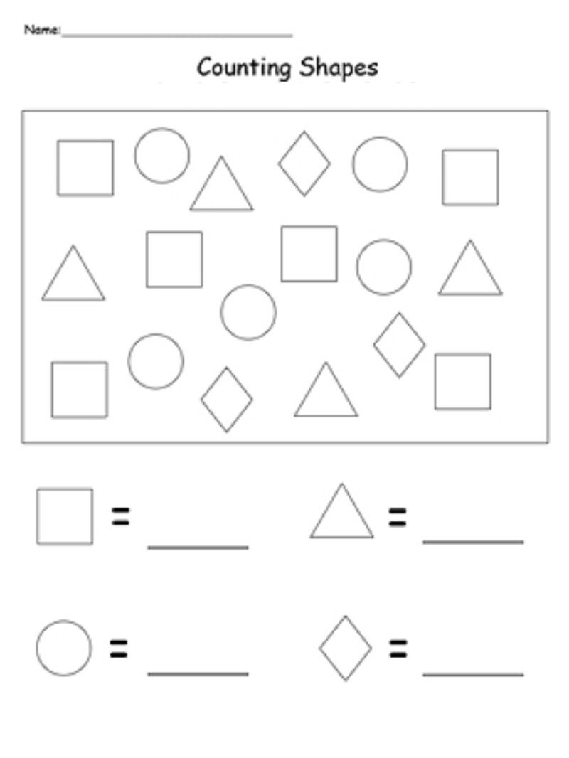 Shapes And Numbers Printable