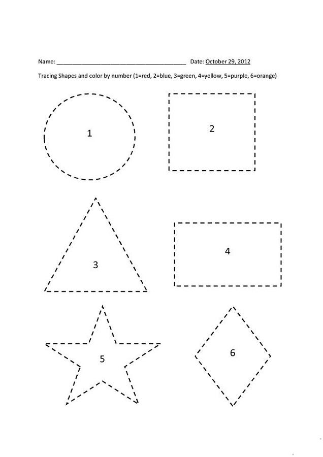 Shapes And Numbers Trace