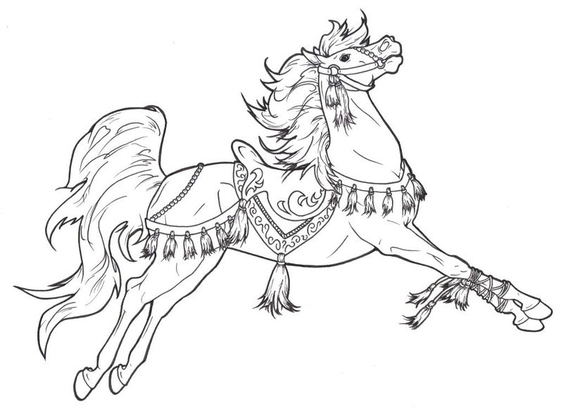 Show Horse Coloring Pages