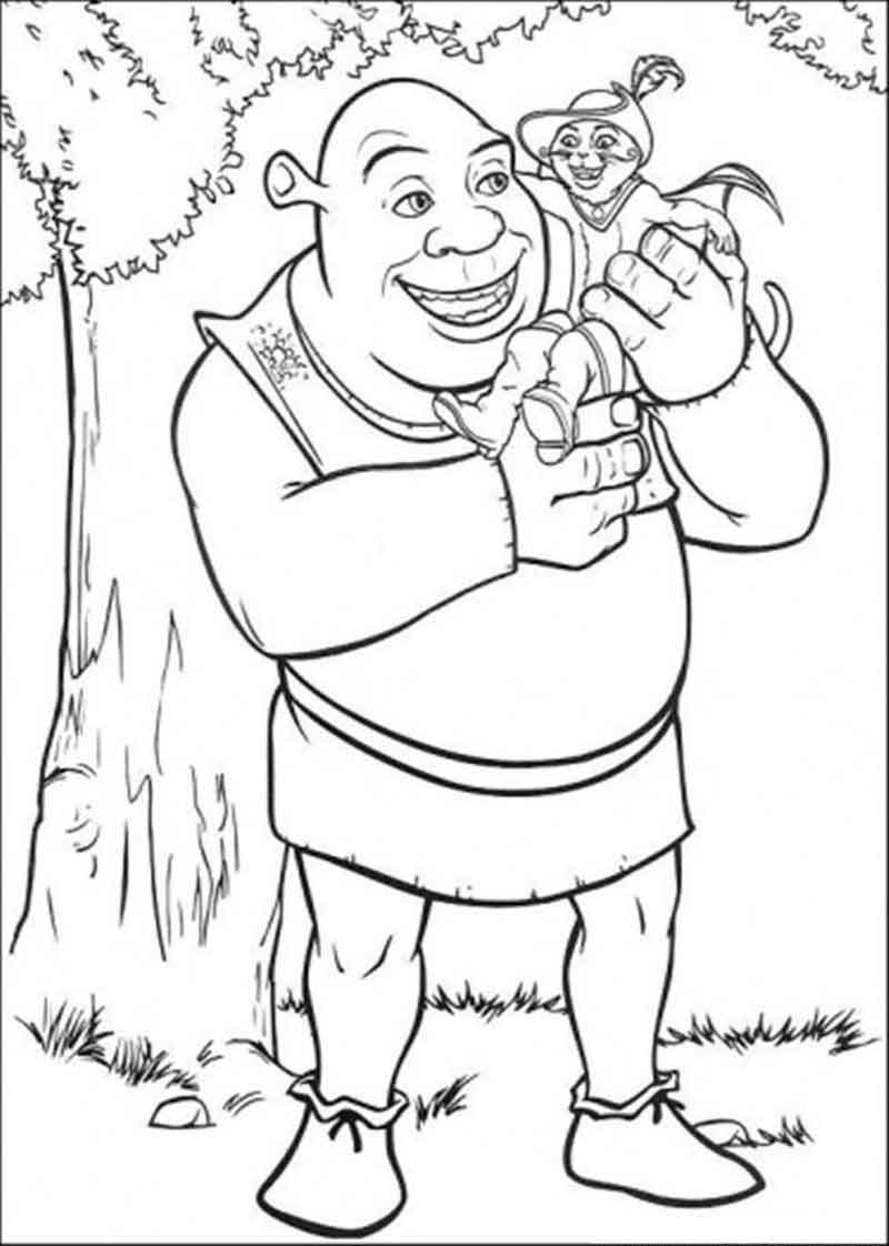 Shrek Coloring Page Images