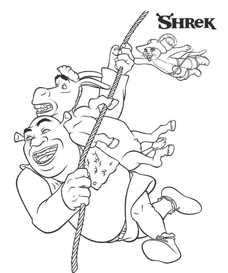 Shrek Coloring Page Printable