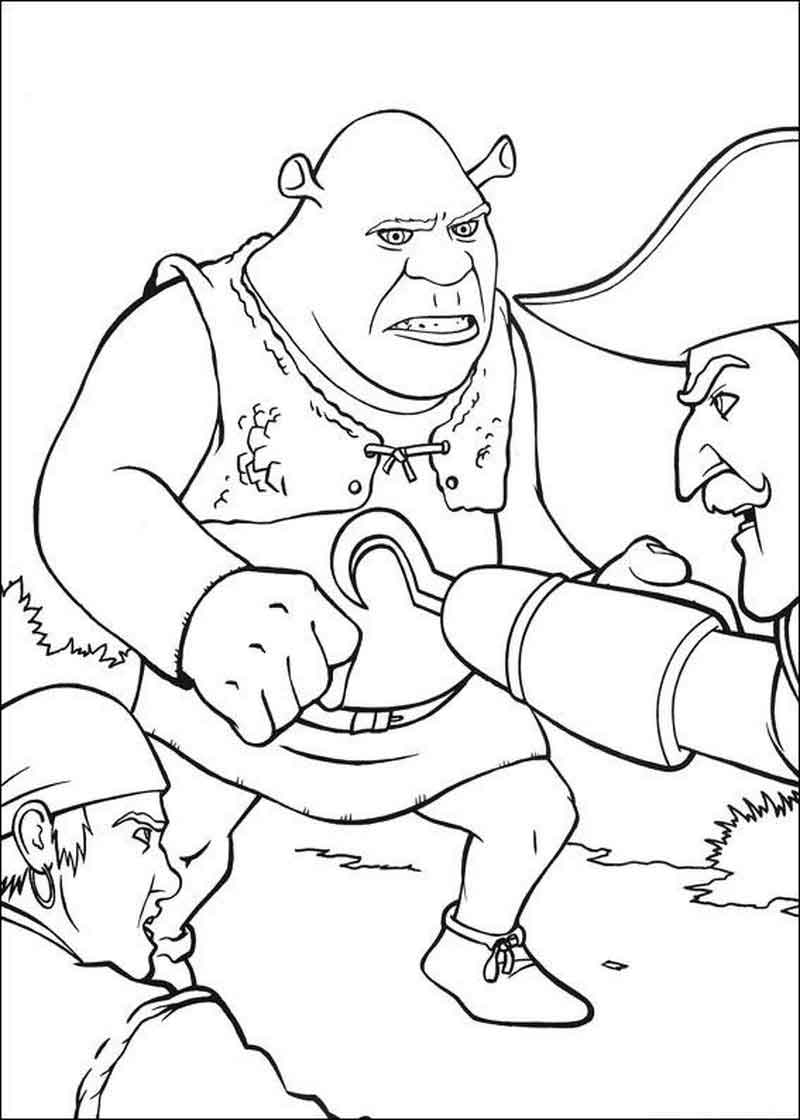 Shrek Coloring Pages Images