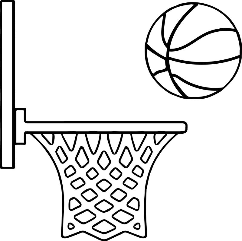Side Playing Basketball Coloring Page