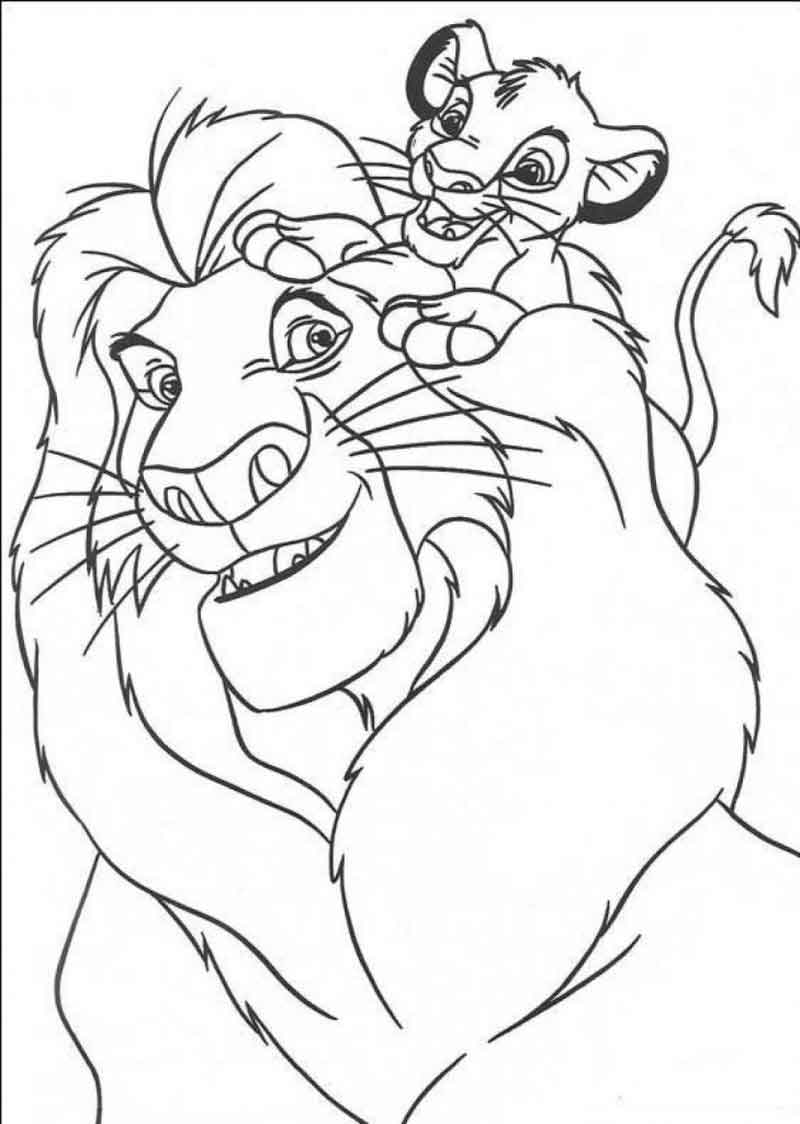Simba Coloring Pages For Printable