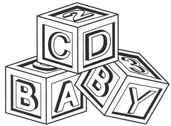 Simple Abc Blocks Coloring Page