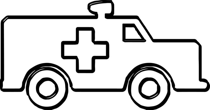 Simple Ambulance Coloring Page