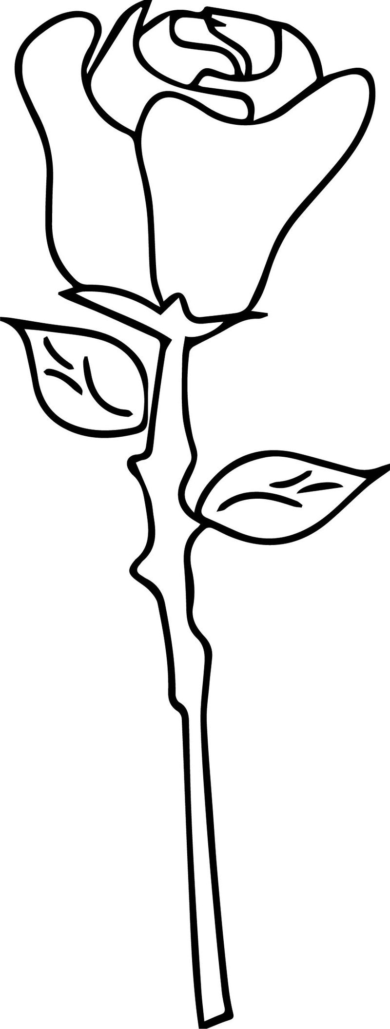 Simple Rose Flower Coloring Page