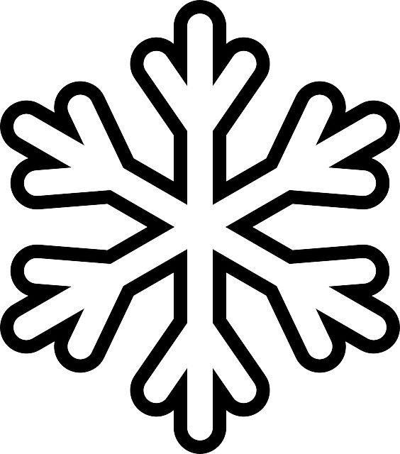 Simple Snowflake Shape Coloring Page