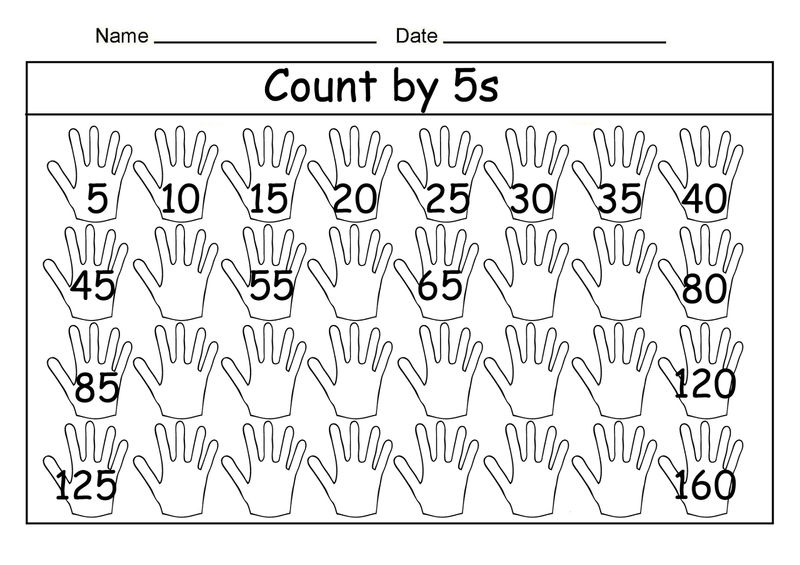 Skip Count By 5 Worksheet Fun 001