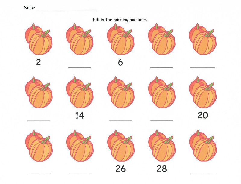 Skip Count Worksheets By 2