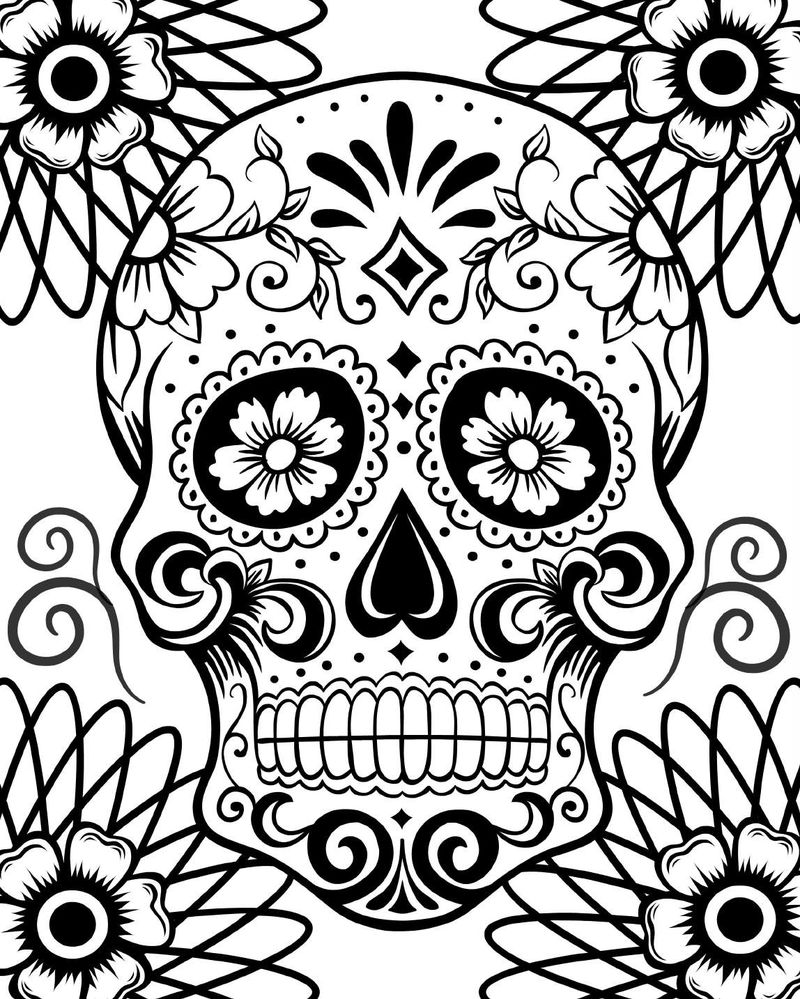 Skulls For Coloring Day Of The Dead 001