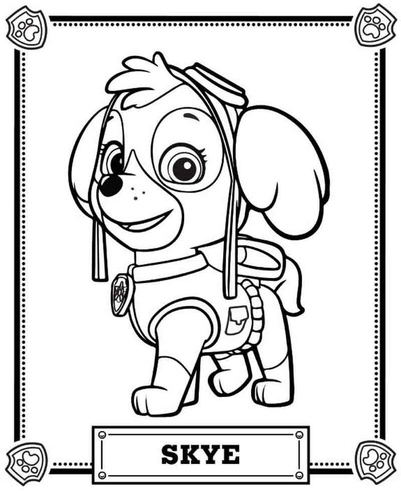 Skye Paw Patrol Coloring Pages