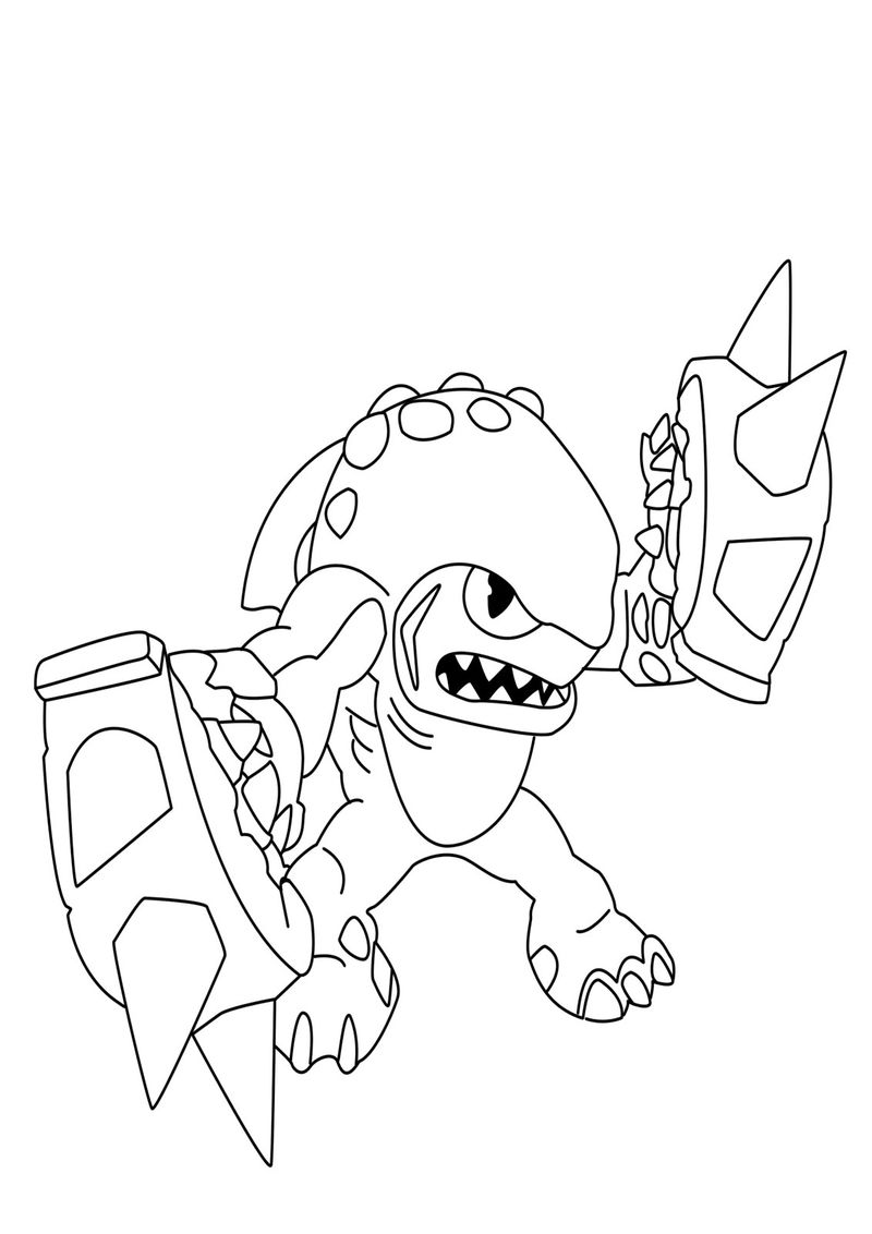 Skylander Giants Coloring Pages To Print 001