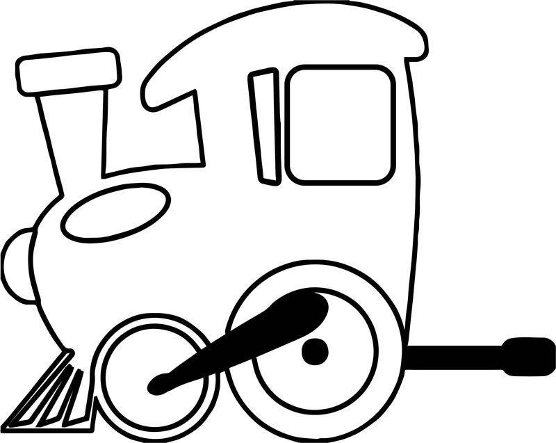 Small Train Power Coloring Page