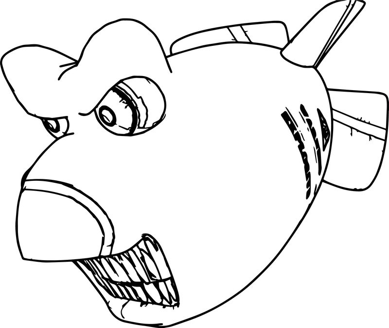Smart Fish Bomb Coloring Page