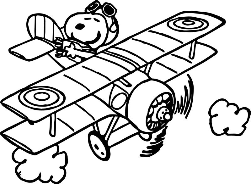 Snoop Drive Fly Plane Coloring Page