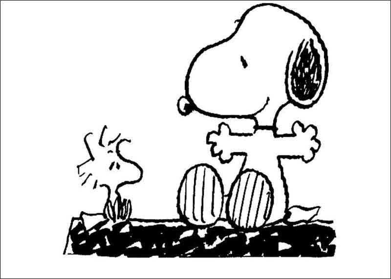 Snoopy Coloring Pages Photos