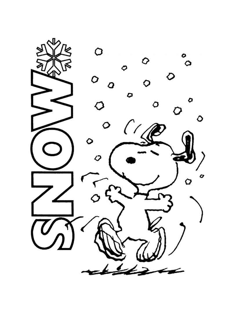 Snoopy Coloring Sheet Free Printable