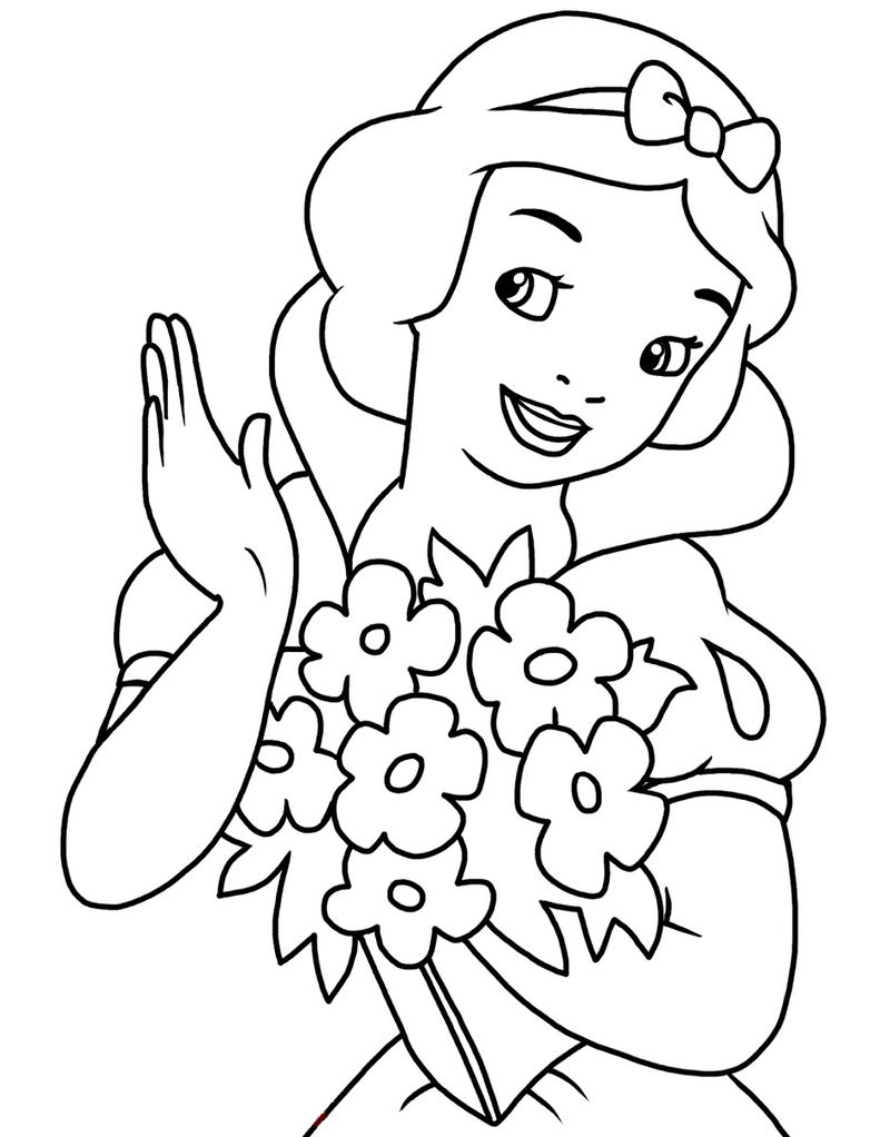 Snow White Activities Coloring