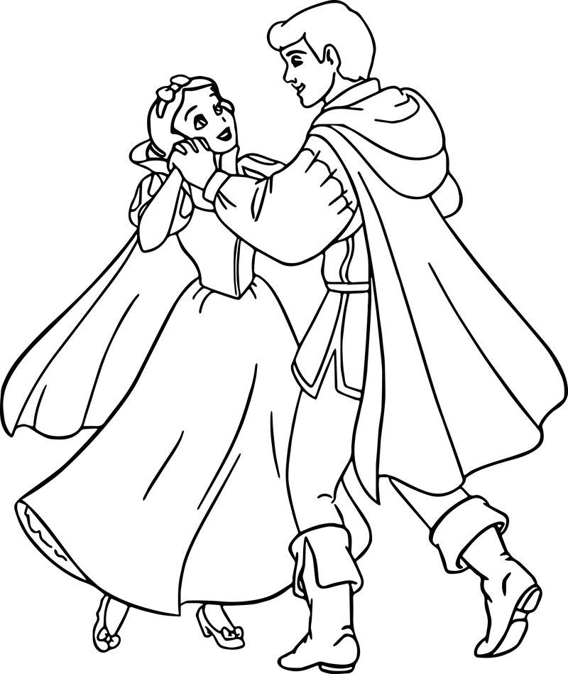 Snow White And The Prince Coloring Page 10
