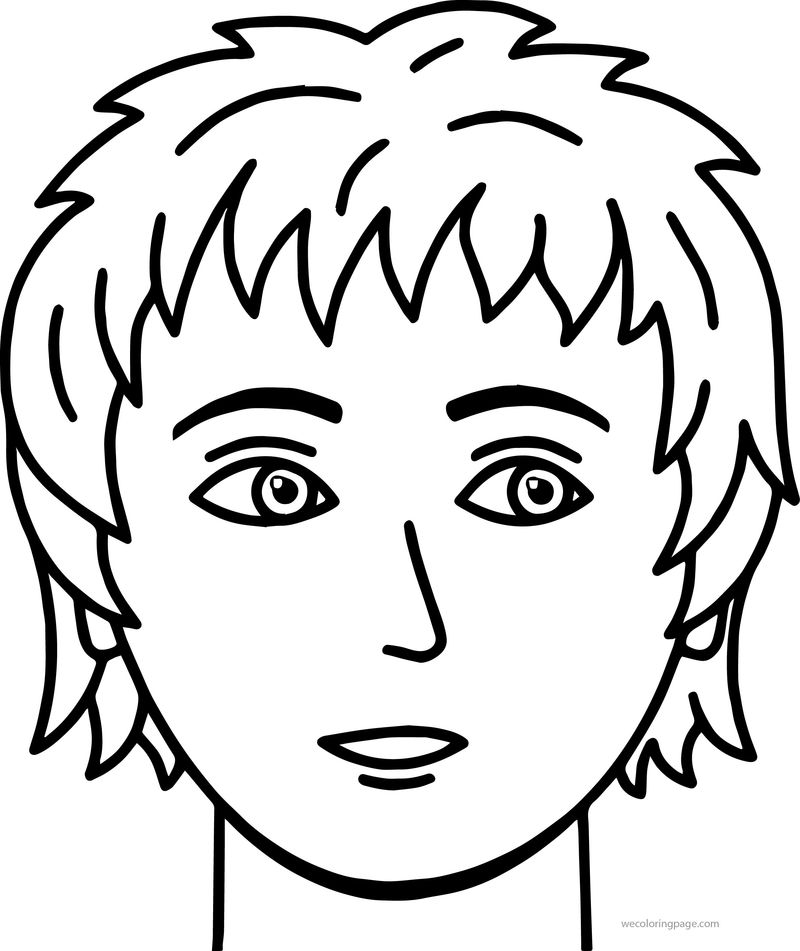 Soccer Boy Face Coloring Page