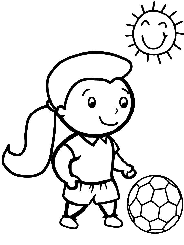Soccer Coloring Sheets 001