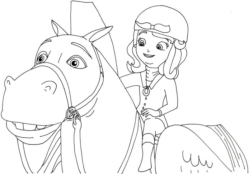 Sofia The First And Horse Coloring Book