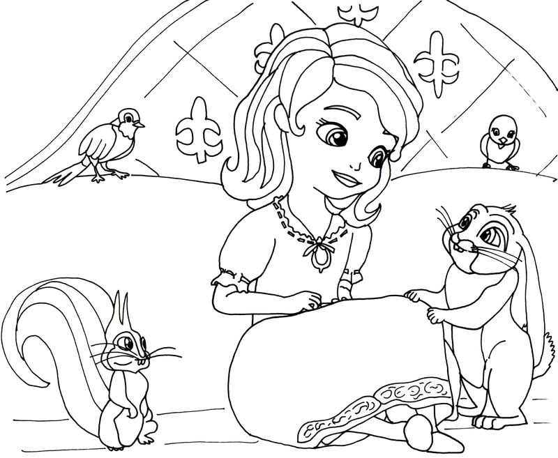 Sofia The First Princess Coloring Pages 001