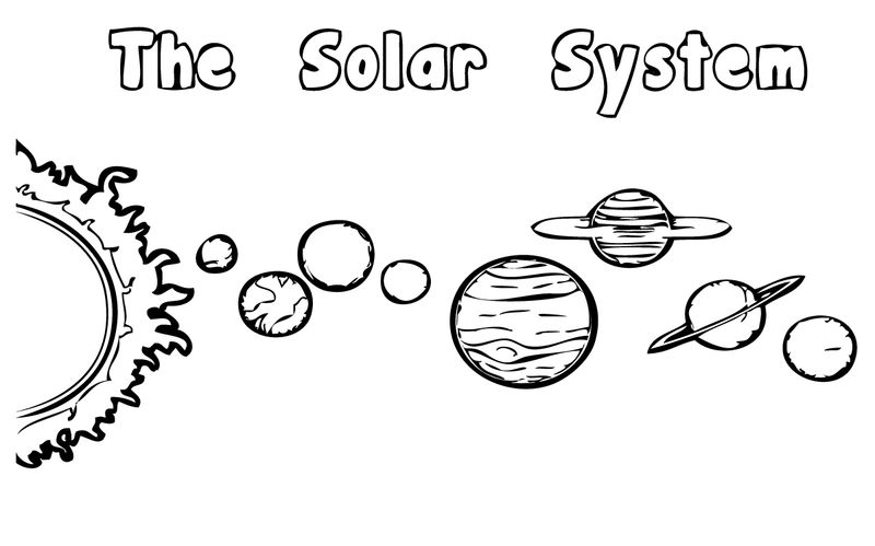 Solar System Planets Coloring Page