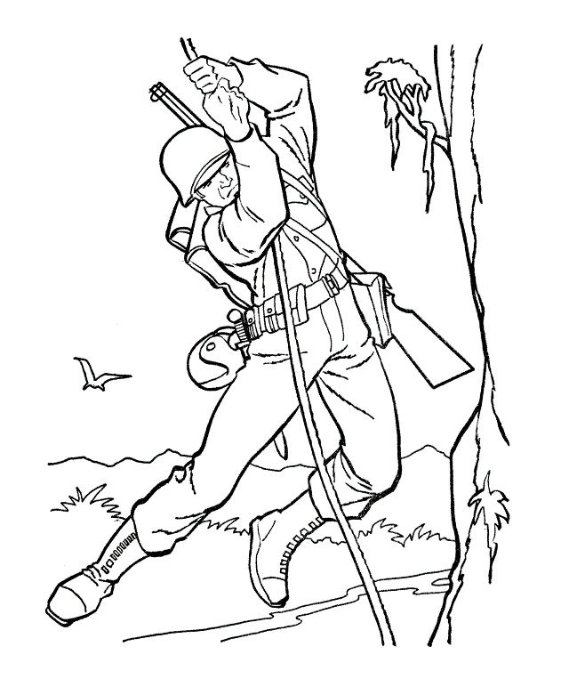 Soldier Training Coloring Book