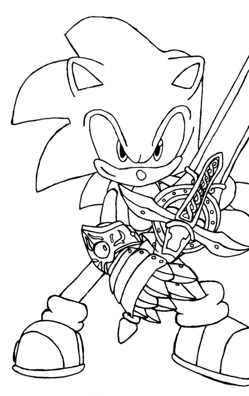 Sonic Coloring Pages Online
