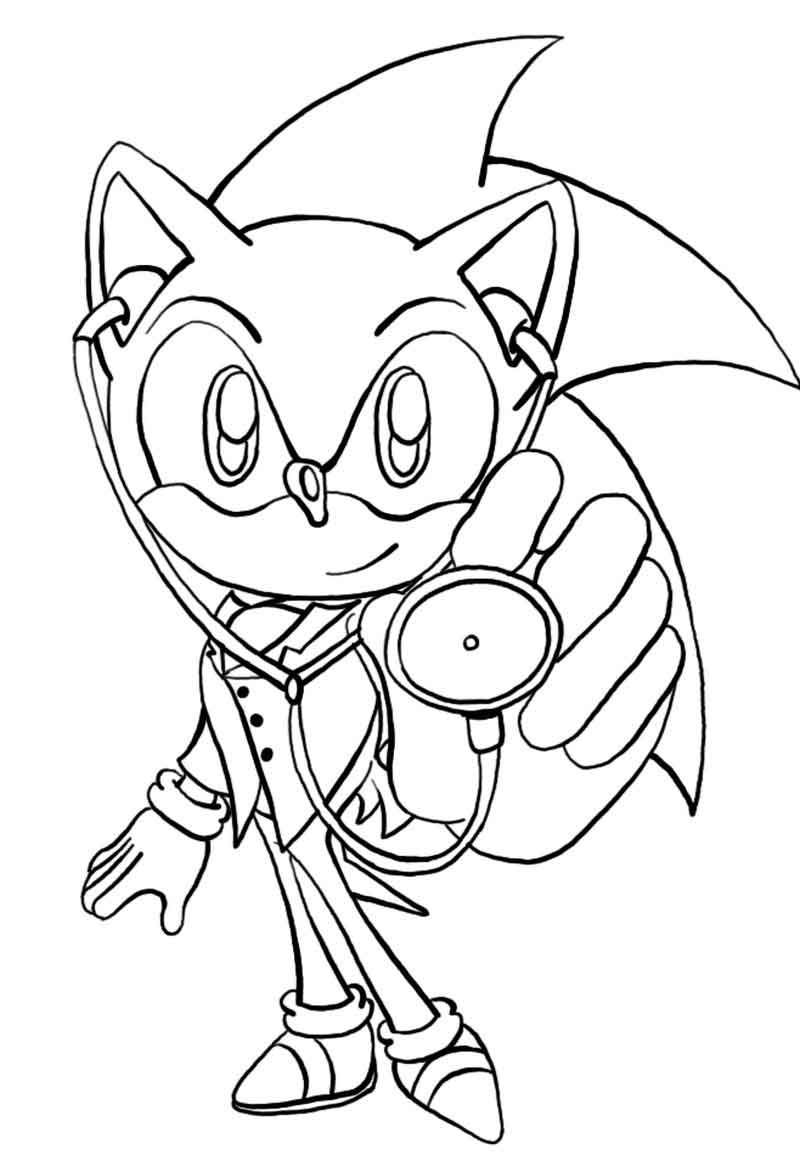 Sonic Coloring Pages To Print Free