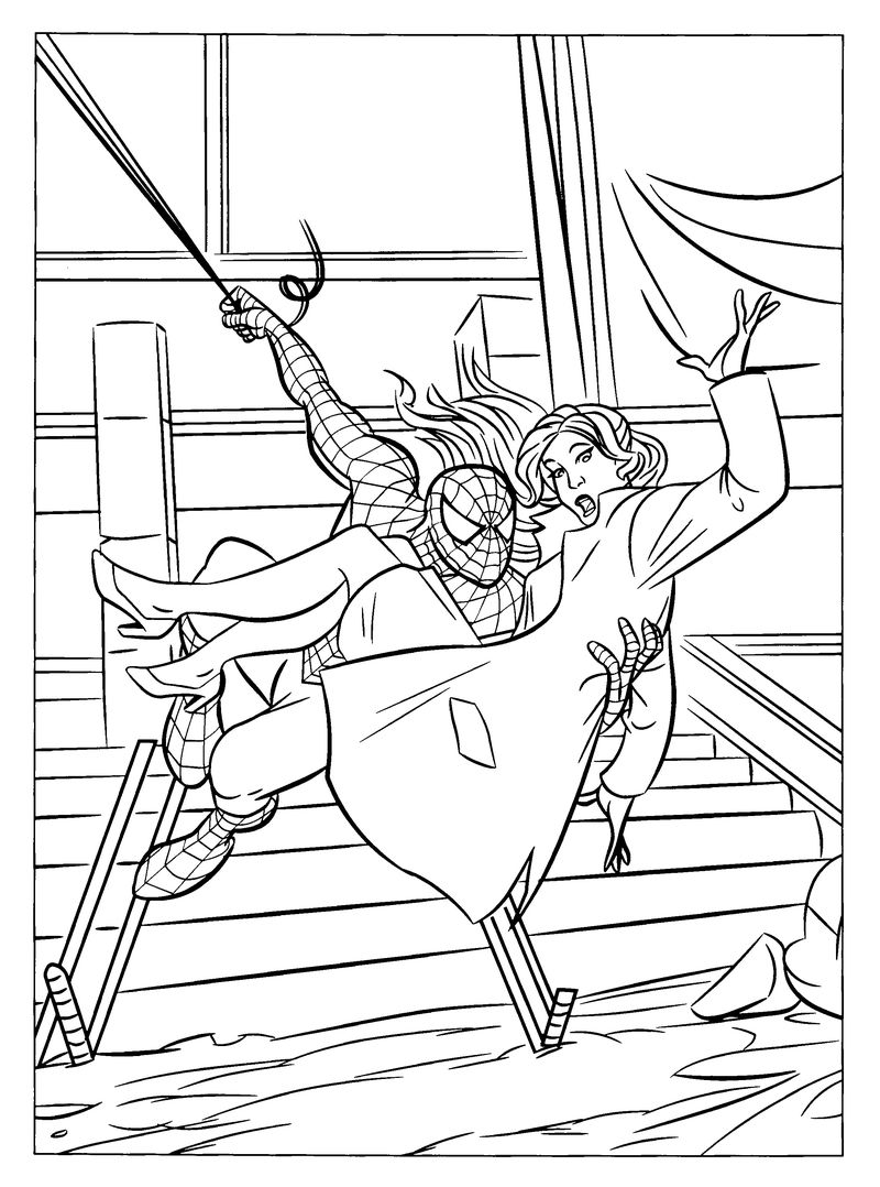 Spiderman 4 Coloring Pages