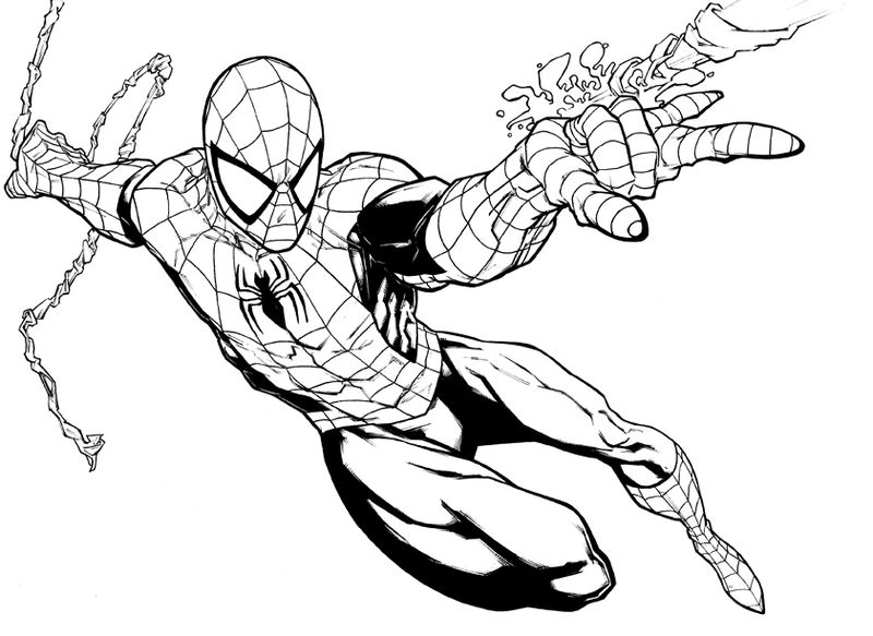 Spiderman Avengers Coloring Pages