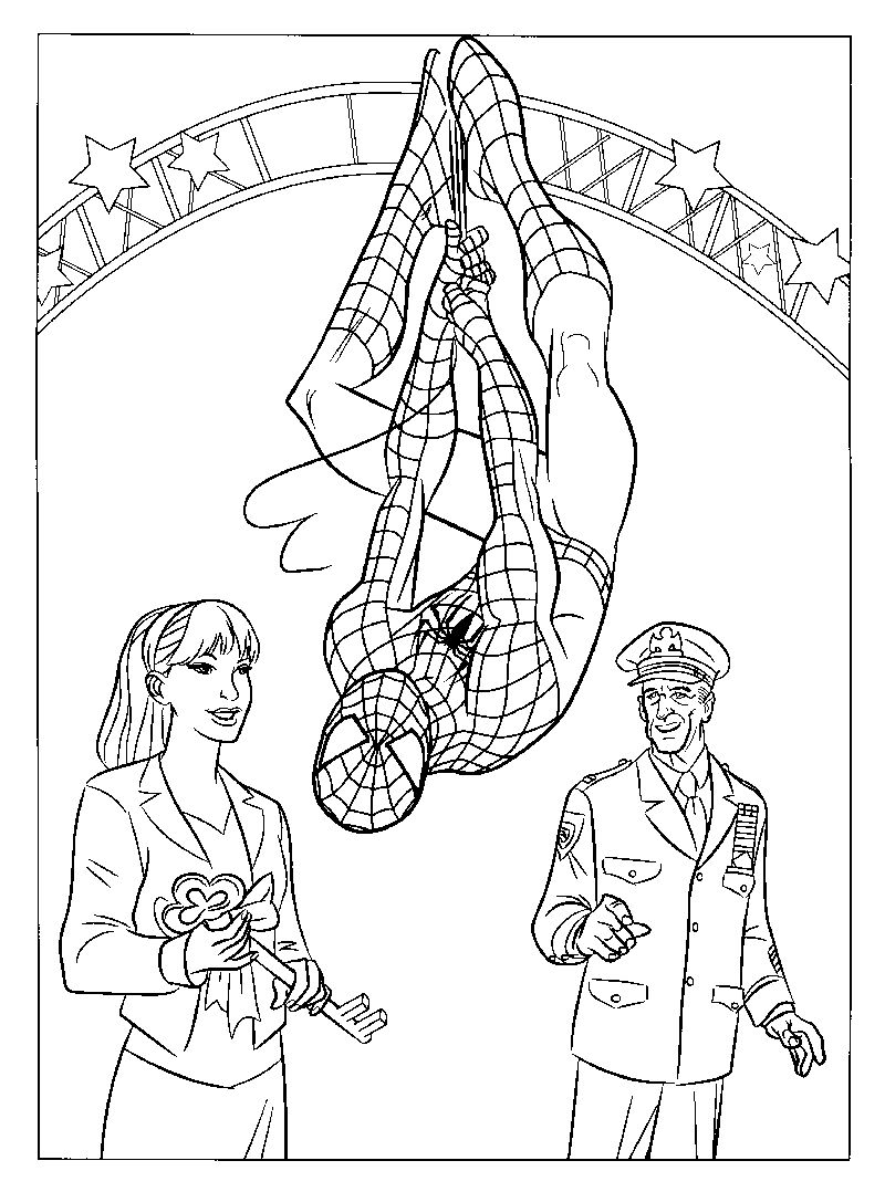 Spiderman Coloring Book Pages