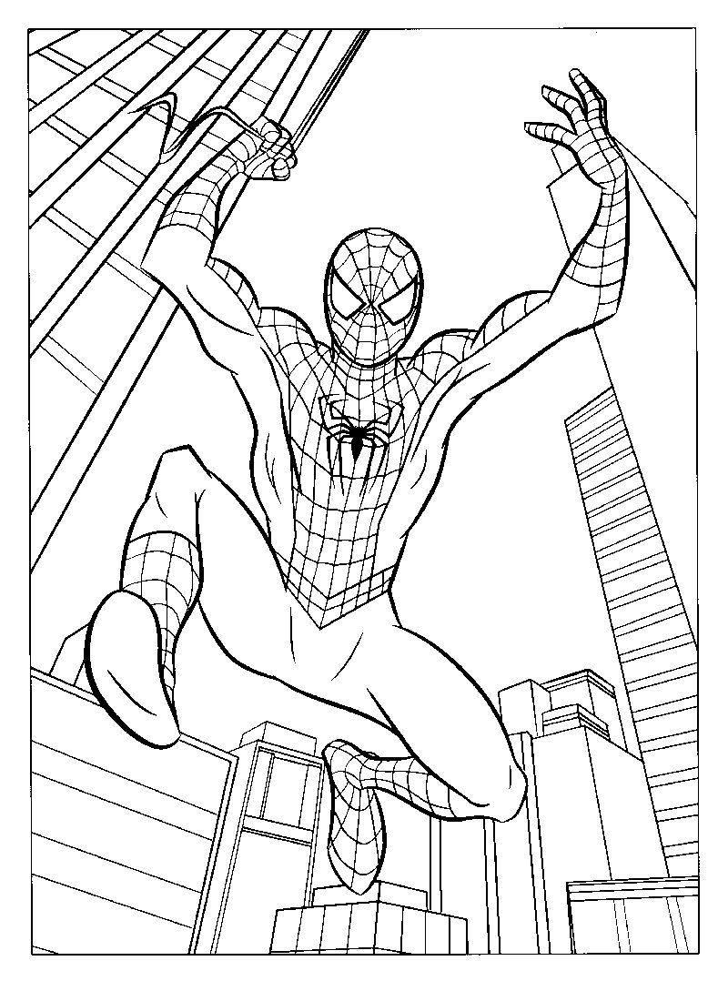Spiderman Coloring Pages For Boys 1