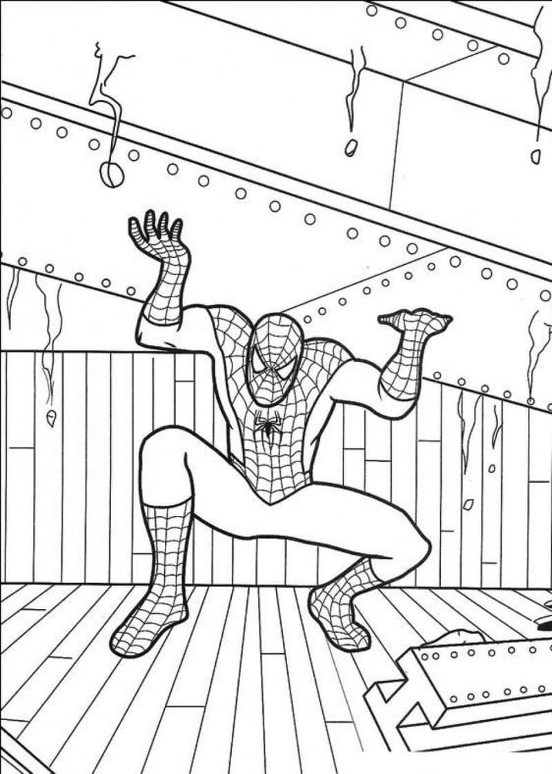 Spiderman Coloring Pages Free