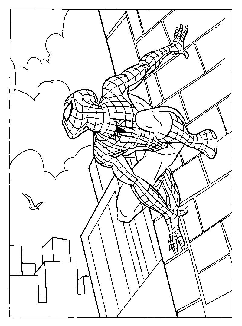 Spiderman coloring pages printable