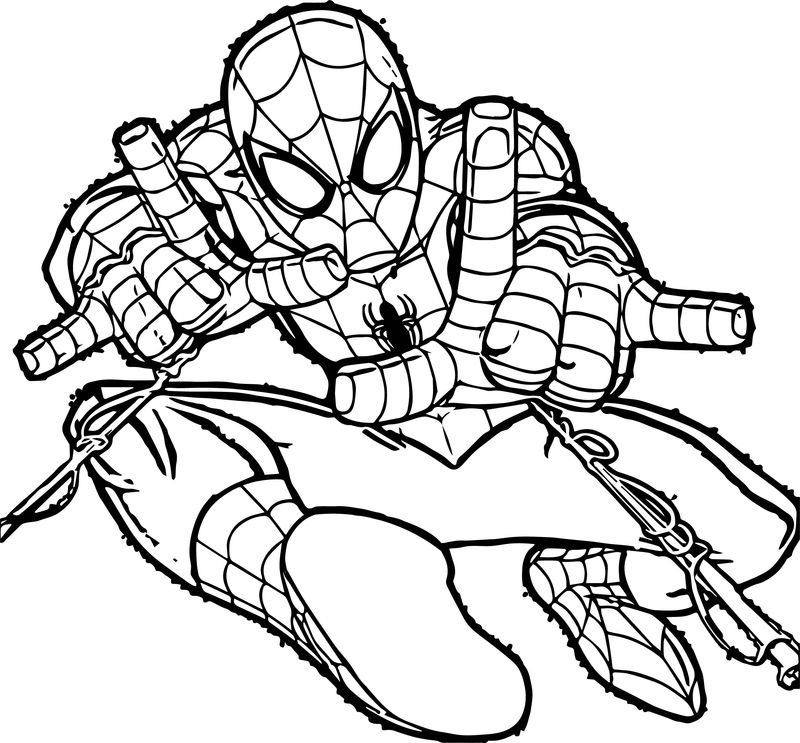 Spiderman Doublesling Spider Man Coloring Page